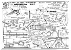 Bernard 201T model airplane plan