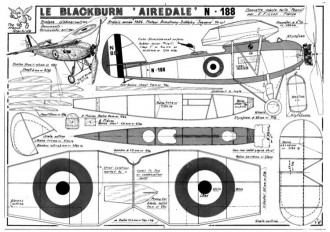 Blackburn Airedale model airplane plan