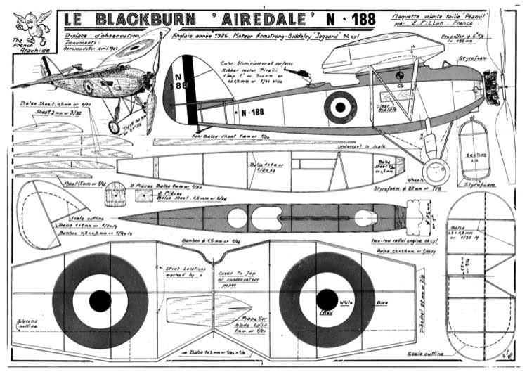 Blackburn Airedale model airplane plan
