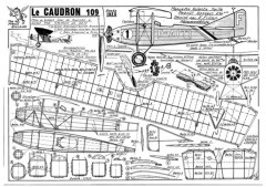Caudron 109 model airplane plan