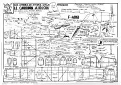Caudron Aiglon model airplane plan