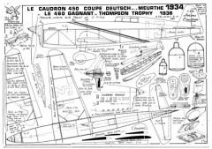 Caudron 450 Coupe model airplane plan