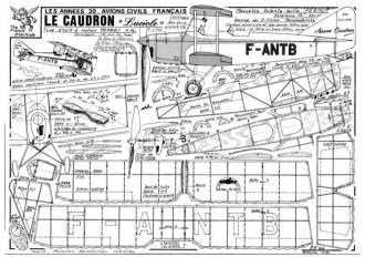 Caudron Luciole model airplane plan