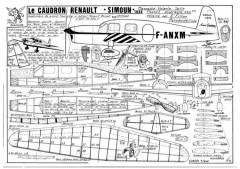 Caudron Simoun model airplane plan