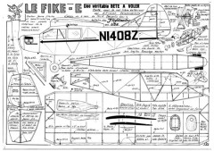 Fike E model airplane plan