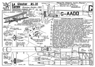Gloster AS-31 model airplane plan