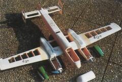 Arado 240 model airplane plan