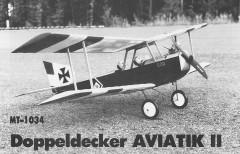 Aviatik II model airplane plan