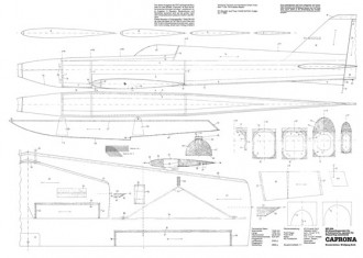 Caprona model airplane plan