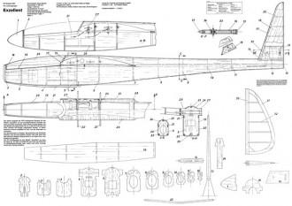 Exzellent model airplane plan