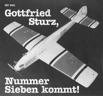 Gottfried Sturz model airplane plan