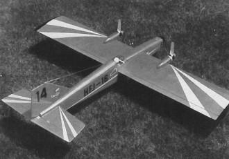 HFJ-16 model airplane plan