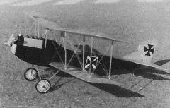 Hansa Brandenburg C.I model airplane plan