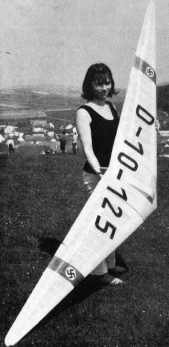 Horten III model airplane plan