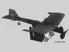 Koechlin 1909 model airplane plan