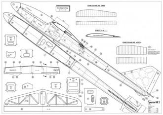 Sparrow Mk1 model airplane plan