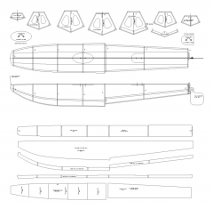 20 SIZE FLOATS model airplane plan