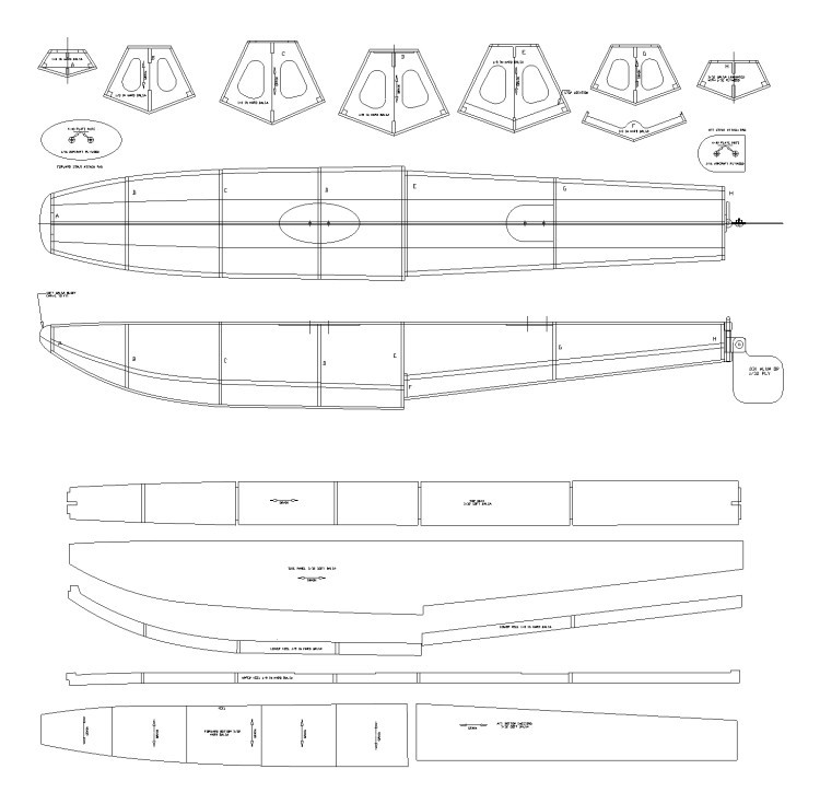 """20 """" Floats for Air float plane model airplane plan"""
