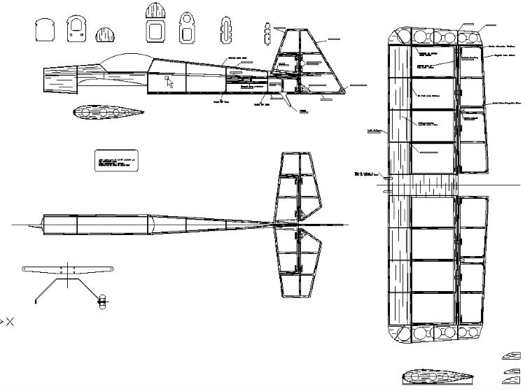 3D model airplane plan
