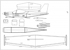 Trainer 400SM model airplane plan