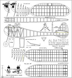 Albatross model airplane plan