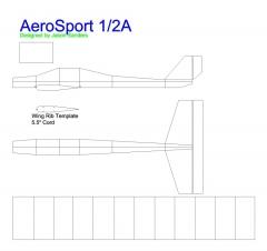 AeroSport1 model airplane plan