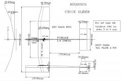 Beginner Chuck Glider model airplane plan