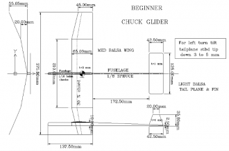 Beginner Chuck Glider model airplane plan