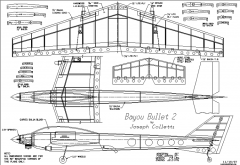 Bajou Bullet 2 model airplane plan