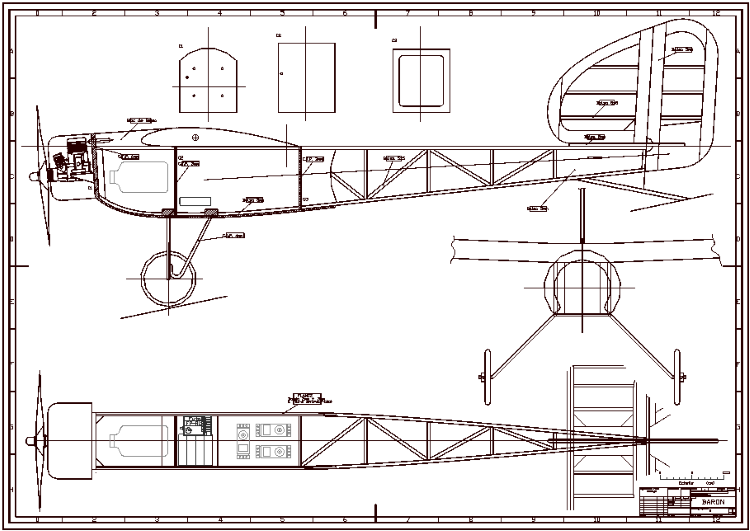 Baron model airplane plan