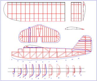 Buccaneer model airplane plan