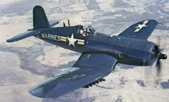 Chance Vought Corsair F4U model airplane plan