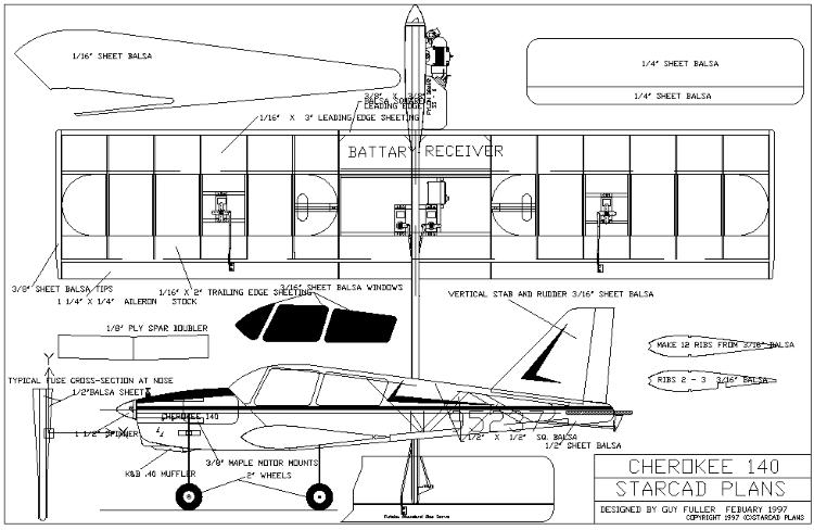 Cherokee140 model airplane plan