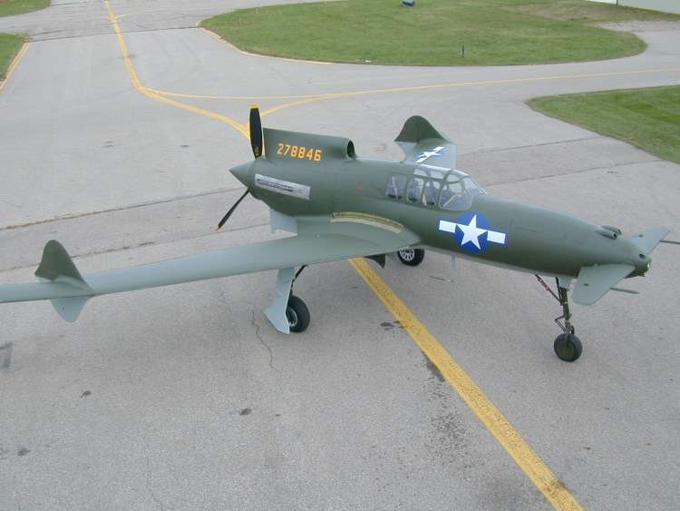 Curtis XP55 Ascender model airplane plan