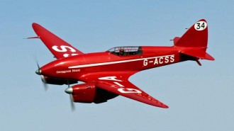 De Havilland DH88 Comet model airplane plan