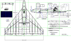 Delta Pushermetric model airplane plan