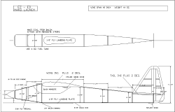 "EZ-ED Hand Launch 48"" model airplane plan"