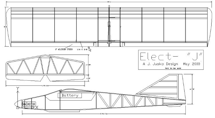 "Electric -""J"" model airplane plan"