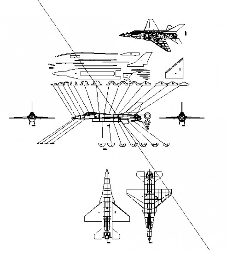 F16 Falcon model airplane plan
