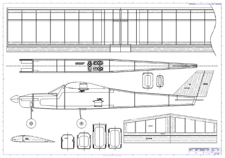 Falcon 25 model airplane plan