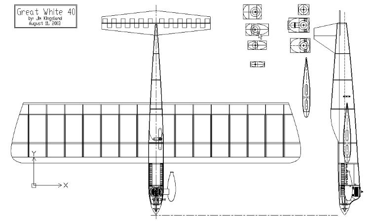 Great White 40 model airplane plan