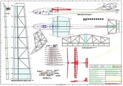 Glider 400 model airplane plan
