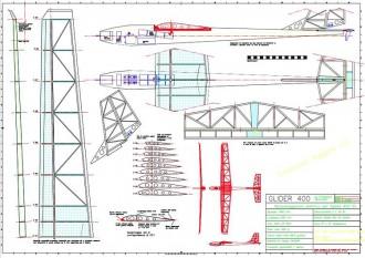 Glider 400 model airplane plan