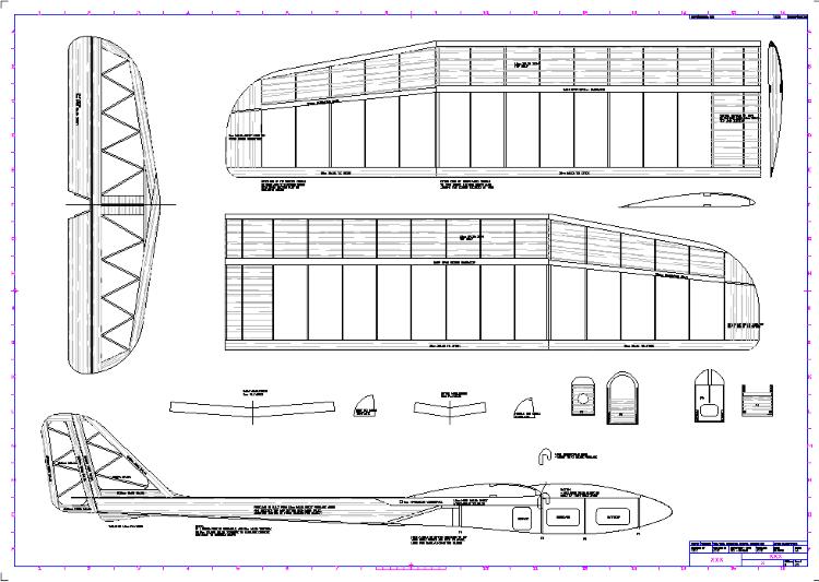 HLG model airplane plan