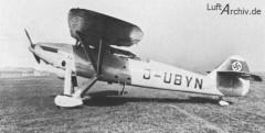 Henschel HS 122 B model airplane plan