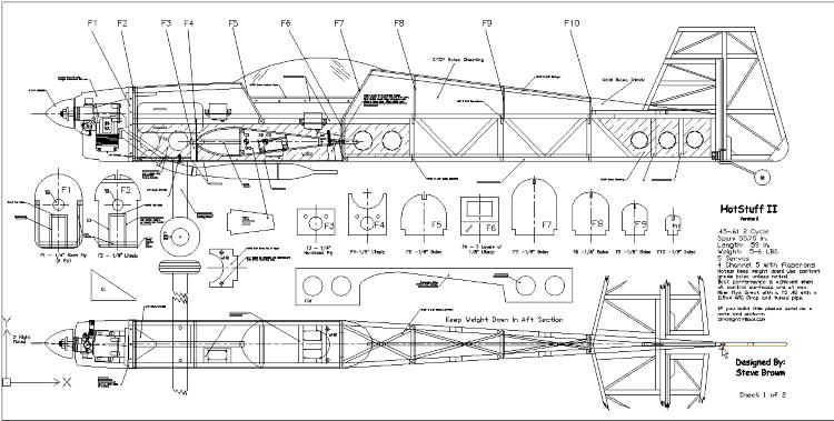HotStuff II - Version 2 model airplane plan