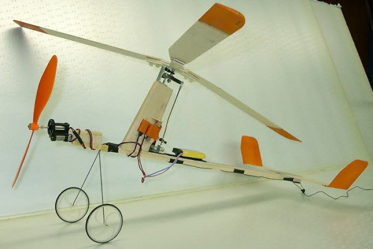 Indoor Gyro model airplane plan