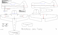 Juka Foamy model airplane plan