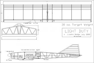 Light Duty model airplane plan
