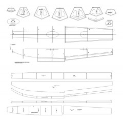 "40 "" Floats for Air float plane model airplane plan"